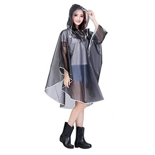 41fOzZE3RuL. SS500  - Raincoat Rain Cape Emergency Waterproof Reusable Hooded Rain Poncho Fashion Outdoor Bicycle Motorcycle EVA Transparent Poncho