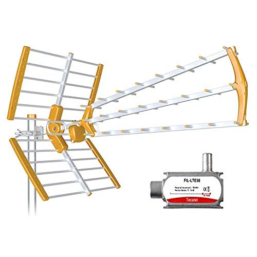 Tecatel ANT-BKM18 - Antena BKM Triple Plegable, Color Naranja