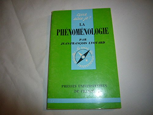 La phénoménologie par Lyotard Jean-François