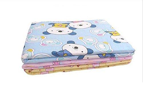 niceeshop(TM) Baby Säugling Wiederverwendbar Baumwolle Wasserdicht Wickelauflage Windel Matte, zufällige Muster und Farben (L Größe)