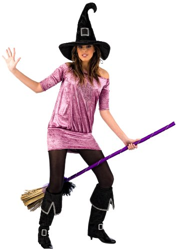 Limit Sport Mascarada MA044 M - Hexe Strass Kostüm, Größe M, lila/rosa