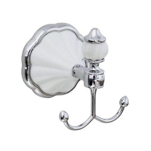 Accesorios de baño juego cuatro piezas MODONA - blanco Porelain y cromo - Flora iMarkCase