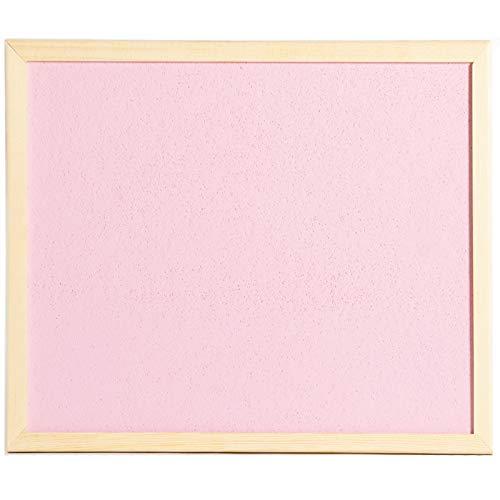 Kork-Pinnwand, rechteckig, 60 x 40 cm, inkl. Befestigungen + 20 Pins, Farbe Bulletin Memo Work Push Peg, Brief, Küche, Garage, Büro, Schule rose