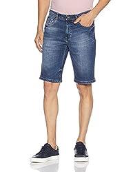 Lee Cooper Mens Cotton Shorts (8907350551959_DM 66 - SHORTS_36_Indigo)