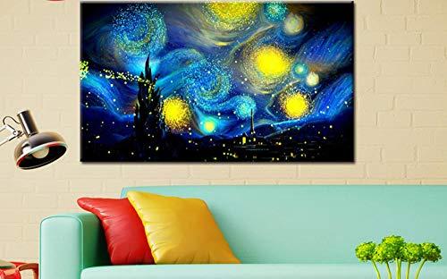 JASIOHCDS Crafts Graphy DIY Bausätze, Pintura acrílica Cielo nocturno 16 * 20 pulgadas (sin Marco)