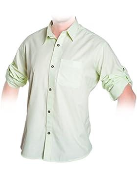 Trachten Hemd Grün, kariertes Trachtenhemd Größe S bis 3XL
