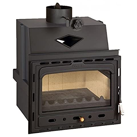 Wood burning fireplace insert Prity, Model C, Heat output 15kW, Cast iron door