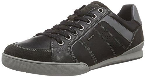 Geox U Kristof A, Baskets Basses Homme Noir (BLACK/GREYC0017)