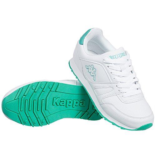 Kappa Freizeit Schuhe New Annes Unisex Sneaker Weiß-Grün