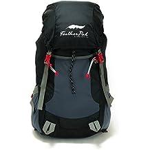 Shacke - 45L Mochila De Peso Ligero / Mochila Para Excursionismo Y Viaje - Envasable Y Plegable Resistente Al Agua (Negro)
