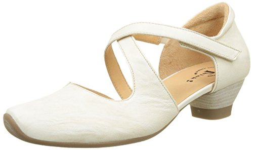 Think Aida_282240, Scarpe con Cinturino Alla Caviglia Donna Bianco (Ivory 95)