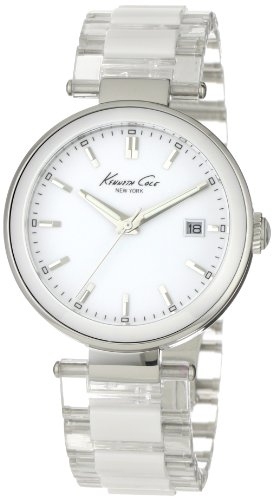 Kenneth Cole Ladies White Ceramic Bracelet Watch Kc4730