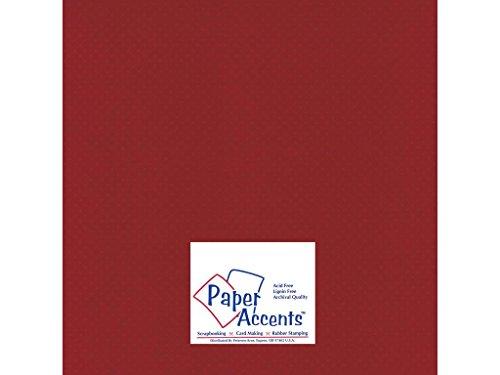 Accent Design Papier Akzente cdstk Mini Dots 12x 1280# Crimson Beauty -