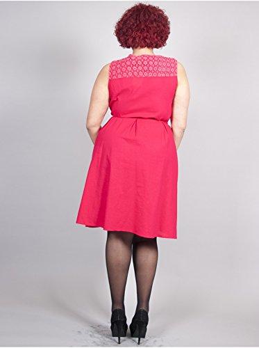 Vêtement Femme Grande Taille Robe Cordon Fushia Fuschia