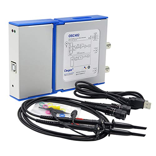 B Blesiya OSC482 Virtual PC USB-Oszilloskop Spektrumanalysator Digitales Speicheroszilloskop