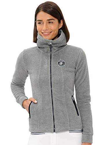 SPOOKS Damen Filsjacke Fleecejacke, leichte Damenjacke, New Lexi Fleece Grey XS