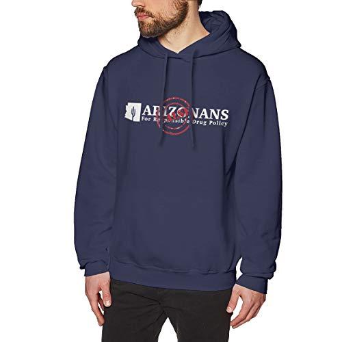 Aemiomiplog Männer Arizonans for Responsible Drug Policy Strassenmode Navy L Fleece-Pullover Mit Kapuze -