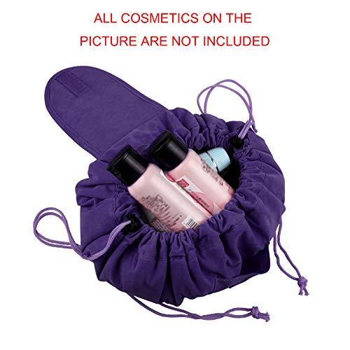 Trousse Maquillage Rapide,Sac Cosmetique Ronde en...