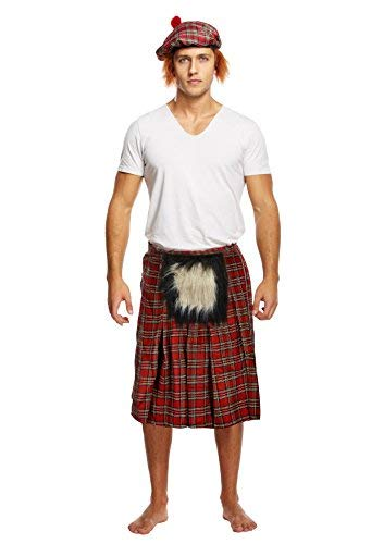Kilt with Sporran for Adults - scottish beret not included