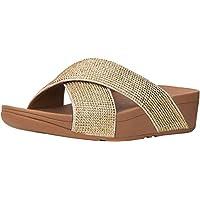 Fitflop Ritzy Slide Sandals, Women's Fashion Sandals, Gold, 39 EU