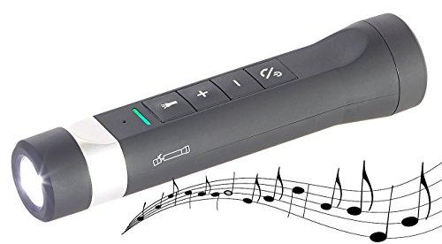 auvisio 5in1-Lautsprecher, Freisprecher, Powerbank,Taschenlampe,MP3, Bluetooth