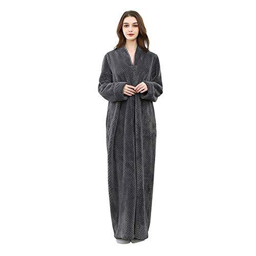 Maritown Unisex Bademäntel extra große warme Reißverschlussmäntel für Paare Wrap Nachtwäsche für Sie und Ihn