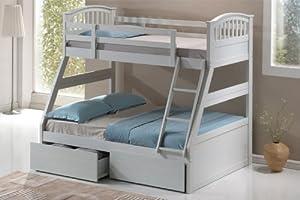 Three Sleeper Bunk Bed White