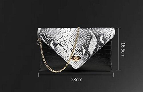Home Monopoly Borsa piccola borsa del pacchetto del pacchetto Grande borsa femminile del sacchetto della borsa del messaggero borsa della borsa della donna / con la cinghia di spalla ( Colore : Nero ) Bianca
