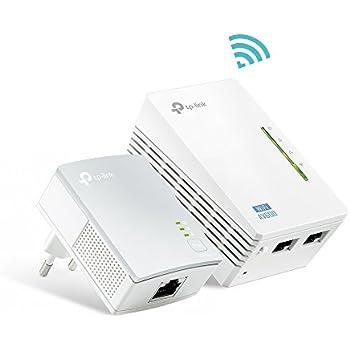 TP-Link TL-WPA4220 KIT AV600 WLAN Powerline Adapter (WLAN Verstärker (300 Mbit/s 2,4GHz), 600Mbit/s Powerline, WiFi Empfang verbessern, 2x10/100Mbit/s LAN Ports, Wi-Fi Clone und Wi-Fi Move, MU-MIMO)