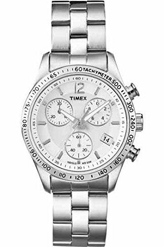 Timex-T2P059PF-Orologio-da-Polso-Cronografo-Donna-Acciaio-Inossidabile-Argento