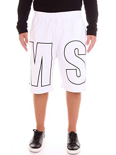 MSGM Homme 2440MB6218429801 Blanc Coton Shorts MSGM