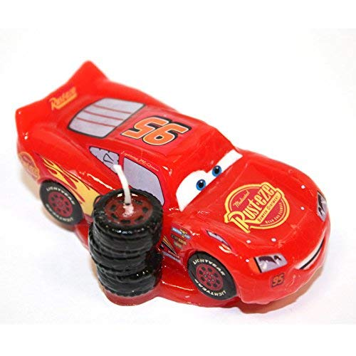 dekora 346053 Disney Pixar Cars Lightning Birthday Candle, Wax, 4.00x8.00x15.00 cm