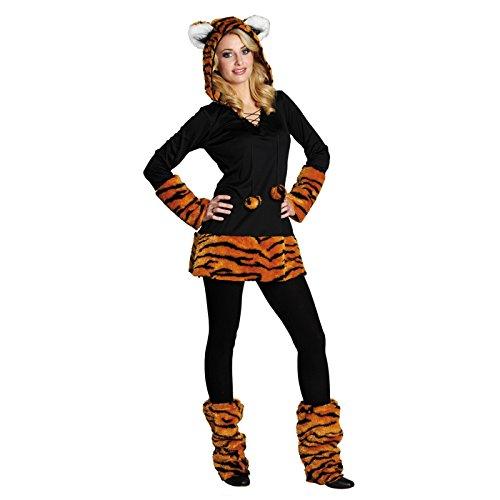 Costume da tigre per adolescenti e donne, di carnevale