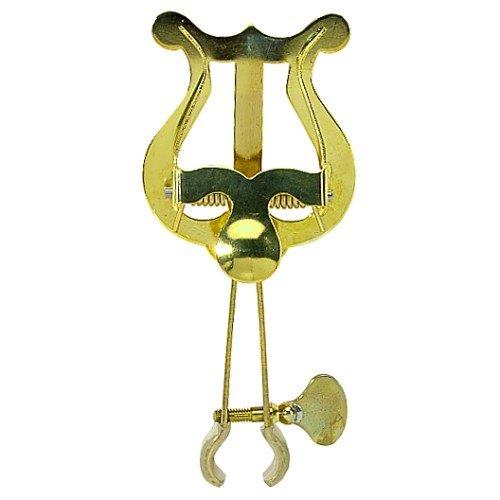 Gewa Marschnotenhalter Trompete kleine Lyra, 1 Drücker, Messing