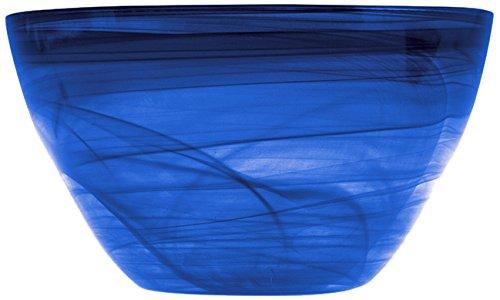 H&h alabastro insalatiera alta, blu cobalto