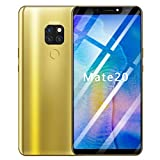 Upxiang Acht Kerne 6.1 Zoll Doppel-HDCamera Smartphone Android 8.1 IPS-VOLLBILD-16GB Touchscreen WiFi Bluetooth GPS 4G Anruf-Handy (Gold)