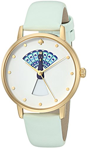 KATE SPADE WOMEN'S SPLASH 34MM LEATHER BAND STEEL CASE QUARTZ WATCH KSW1286