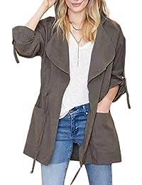 Tomwell Femme Automne Col Revers Veste Manches Longues Blazer Zipper Cardigan Gilet Jacket