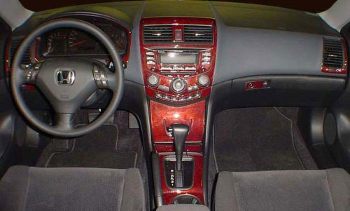 Honda Accord Coupe 2 Türinnen Burl Holz Dash Trim Kit Set 2003 2004 2005 2006 2007