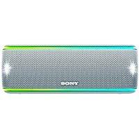Sony SRSXB31W - Altavoz portátil Bluetooth (Extra Bass, Modo Sonido Live, Party Booster, Luces de Fiesta llamativas, Conector USB para Cargar Smartphone), Color Blanco