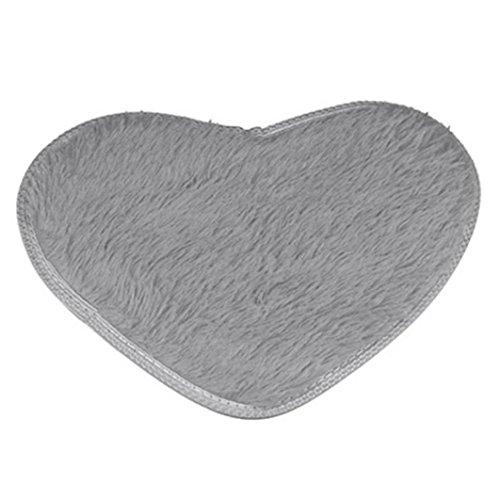 Hunpta 40 * 50 cm Anti Skid Flauschige Shag Bereich Teppich Haus Schlafzimmer Badezimmer Boden Tür Matte (Grau) Braun Und Blau Badematte