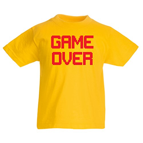 funny-t-shirts-for-kids-game-over-vintage-t-shirts-funny-gamer-gifts-gamer-shirt-14-15-years-yellow-