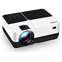 """Projector, GEARGO 2800 Lumens HD Video Projector with 185"""" and 1080P Supported, Portable Projector Compatible with Amazon Fire TV Stick/ Laptop/ SD/ XBOX/ iPad/ iPhone/ Android for Home Theatre"""
