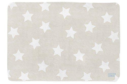 lottas Lable Alfombra con diseño de estrellas infantil beige Talla:ca. 70x100