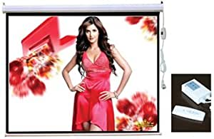 """PCW106GE 106"""" HD Projector Screen Glass Beaded 16:9 Widescreen Electric Motorized w/ Remote Control"""