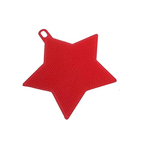 HLHN Colors Star Shape Silicone Sponge Scrubber Cleaning Brush Mop Bowl Dish Wash Tools Kitchen Cleaning