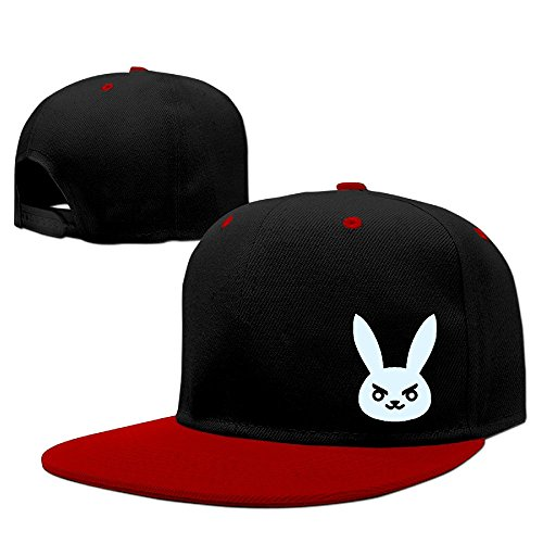 Fitty area Overwatch Rabbite Fashion Trucker Hat One Size Red Red
