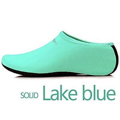 JIASUQI Kids,Womens and Mens Classic Barefoot Water Sports Skin Shoes Aqua Socks for Beach Swim Surf Yoga Exercise : everything £5 (or less!)