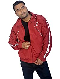 ShopyBucket Men's Polyester Track Jacket (Multicolour, Large)