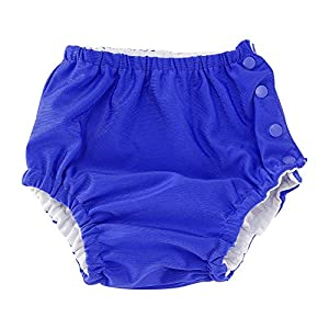 Bebé Reutilizable Pañal de natación Ajustable Lavable Traje de baño rápido para niños niñas bebés(70-Lago azul) 9